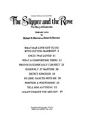 Richard/Robert Sherman: Selections From 'The Slipper And The Rose'