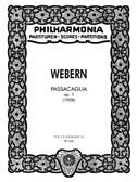 Anton Webern: Passacaglia Op.1
