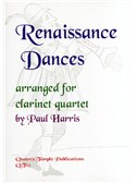 Renaissance Dances arranged for Clarinet Quartet