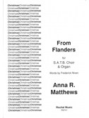 Anna R. Matthews: From Flanders. SATB Sheet Music