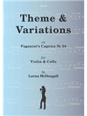 Theme & Variations On Paganini's Caprice No. 24 For Violin And Cello (Arr. Lorna McDougall). Sheet Music