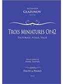 Alexander Glazunov: Trois Miniatures Op.42 No.1 For Flute And Piano. Sheet Music