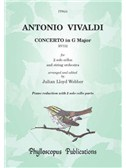 Antonio Vivaldi: Concerto In G RV532 - Piano Reduction (Arr. Julian Lloyd Webber). Cello Sheet Music