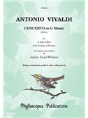 Antonio Vivaldi: Concerto In G Minor RV812 - For 2 Solo Cellos And String Orchestra: Piano Reduction