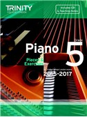 Trinity College London: Piano Exam Pieces & Exercises 2015-2017 - Grade 5 (Book/CD)