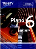 Trinity College London: Piano Exam Pieces & Exercises 2015-2017 - Grade 6 (Book/CD)