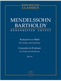Felix Mendelssohn-Bartholdy: Concerto for Violin in E minor Op.64 (Urtext). (Early version and later popular version).