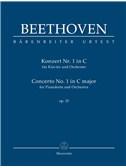 Ludwig Van Beethoven: Piano Concerto No.1 In C Op.15 (Study Score)