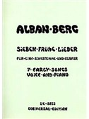 Alban Berg: Seven Early Songs For Voice And Piano