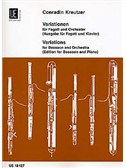 Conradin Kreutzer: Variations For Bassoon And Piano