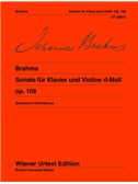 Johannes Brahms: Sonata Op.108 D Minor. Violin Sheet Music