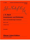 Johann Sebastian Bach: Inventions And Symphonies BWV 772-801 - Two And Three Part Inventions
