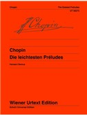 Frédéric Chopin: Easy Preludes Op. 28/4, 6, 7, 9, 15, 20. Piano Sheet Music