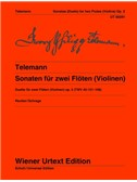 Georg Philipp Telemann: 6 Sonatas For 2 flutes (Or Violins)   Op. 2 TWV 40:101-106. Sheet Music