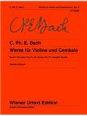 Carl Philipp Emanuel Bach: Sonatas For Violin And Cembalo Vol. 2 (Wq 75-78, Arioso Wq 79, Fantasie Wq 80). Sheet Music