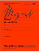 Wolfgang Amadeus Mozart: Rondo D K 485 (Original Edition And Facsimile)