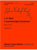 J.S. Bach: 3 Two Part Inventions BWV 772, 777, 779