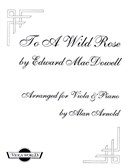 Edward MacDowell: To A Wild Rose (Viola And Piano)