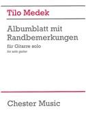 Tilo Medek: Albumblatt Mit Randbemerkungen