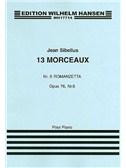 Jean Sibelius: 13 Pieces Op.76 No.6 'Romanzetta'