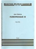Jean Sibelius: Humoresque No.3 Op.89a (Score)