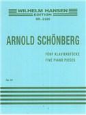 Arnold Schonberg: Five Piano Pieces Op.23