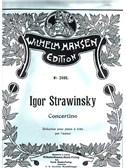 Igor Stravinsky: Concertino (Piano Duet Reduction)