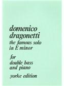 Domenico Dragonetti: The Famous Solo In E Minor