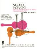 Nicolo Paganini: 12 Duette Fur Violine Und Gitarre, Heft 2: Nr. 7-12