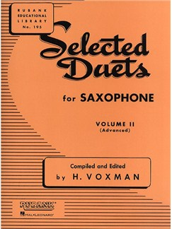 Selected Duets For Saxophone - Volume 2 Books | Saxophone (Duet)