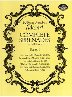 W.A. Mozart: Complete Serenades In Full Score - Series I Books | Orchestra