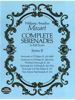 W.A. Mozart: Complete Serenades In Full Score - Series II Books | Ensemble