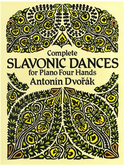 Antonin Dvorák: Complete Slavonic Dances - Piano Four Hands Books | Piano Duet