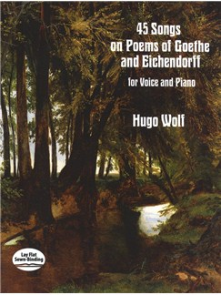 Hugo Wolf: 45 Songs On Poems Of Goethe And Eichendorff Bog | Stemme, Klaverakkompagnement