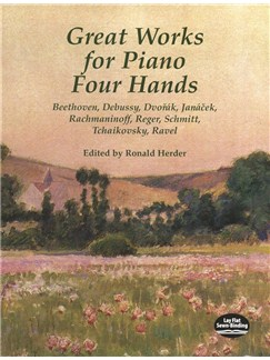 Great Works For Piano Four Hands Books | Piano Duet