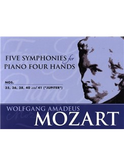 W.A. Mozart: Five Symphonies For Piano Four Hands Books | Piano Duet