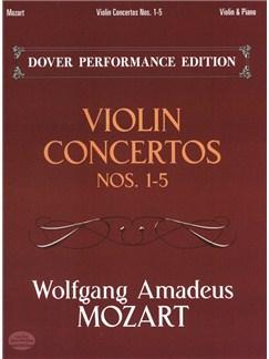 Wolfgang Amadeus Mozart: Violin Concertos Nos.1-5 (Violin/Piano) Books | Violin, Piano Accompaniment
