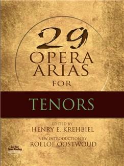 Twenty-Nine Opera Arias For Tenor Books | Tenor