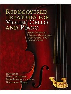 Rediscovered Treasures For Violin, Cello and Piano Books | Piano, Violin, Cello