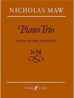 Nicholas Maw: Piano Trio (Score/Parts) Books | Piano Chamber, Violin, Cello