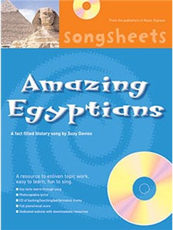 History Songsheets: Amazing Egyptians Books and CDs | Voice, Piano Accompaniment