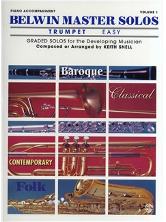 Keith Snell: Belwin Master Solos Trumpet - Volume 1 (Piano Accompaniment) Books   Piano Accompaniment