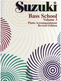 Suzuki Bass School Volume 3 - Piano Accompaniment (Revised Edition) Books | Double Bass, Piano Accompaniment