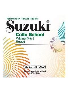 Suzuki Cello School CD - Volume 3 & 4 CDs | Cello, Piano Accompaniment