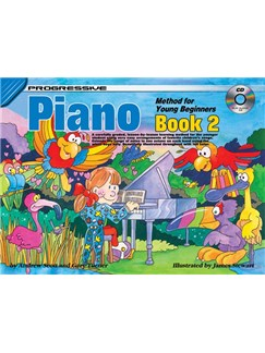 Progressive Piano Method For Young Beginners: Book 2 Books and CDs | Piano