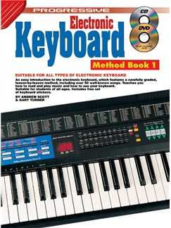 Progressive Electronic Keyboard Method: Book 1 Books, CDs and DVDs / Videos | Keyboard