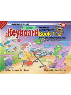 Progressive Electronic Keyboard Method For Young Beginners: Book 1 Books and Digital Audio | Keyboard