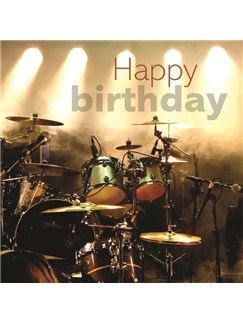 Birthday Card: Drums On Stage  |
