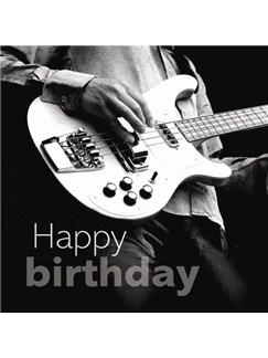 Birthday Card: Bass Guitar  |