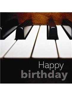 Birthday Card: Piano Keys  |